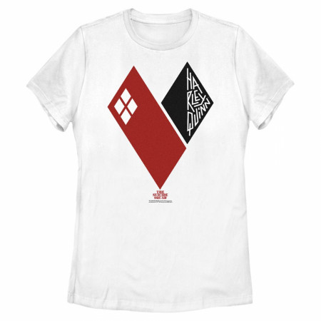 The Suicide Squad Harley Quinn Queen Heart Juniors T-Shirt