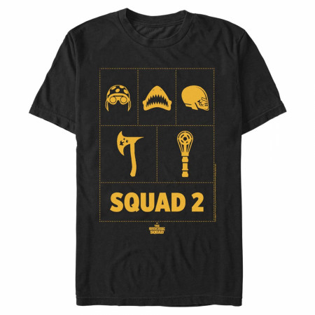 The Suicide Squad Squad-2 Character Logos Men's T-Shirt