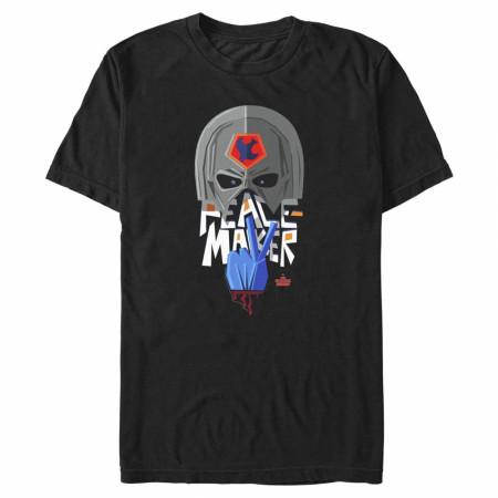 The Suicide Squad Peacemaker Stylized Character Portrait Men's T-Shirt