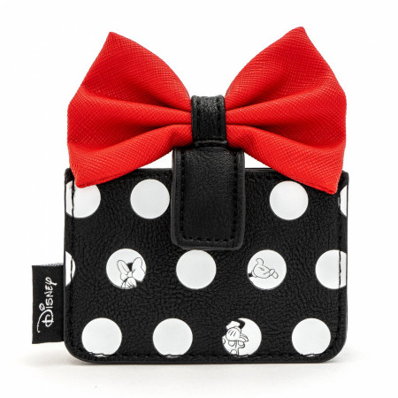 Disney Minnie Mouse Polka with Red Bow Card Holder Wallet