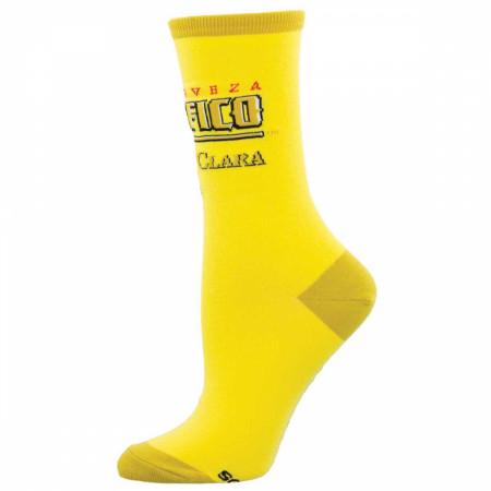 Pacifico Cerveza Clara Classic Yellow Brand Women's Socks