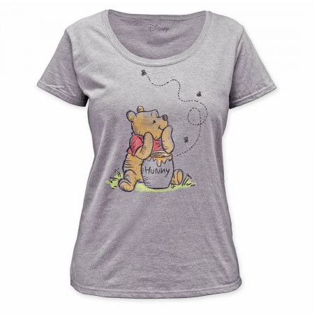Winnie the Pooh Honey Jar Women's White T-Shirt