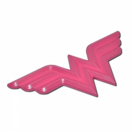 Wonder Woman Symbol Hot Pink Chrome Plated Emblem