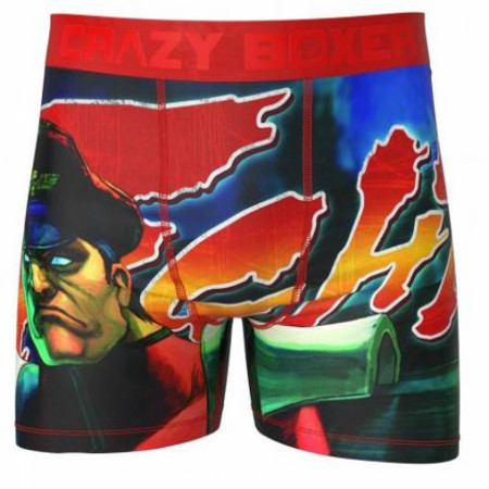Street Fighter Power of Bison Men's Crazy Boxer Briefs