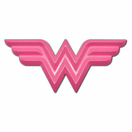 Wonder Woman Symbol Hot Pink Chrome Plated Emblem
