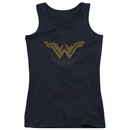 Wonder Woman Distressed Logo Women's Tank Top