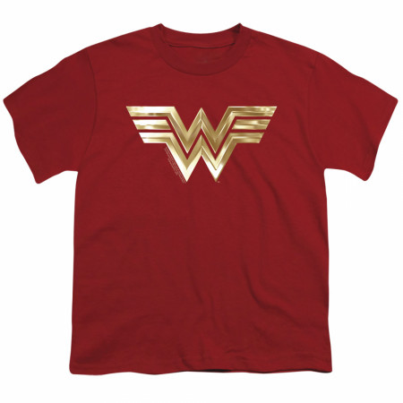 Wonder Woman 1984 Golden Movie Logo Youth T-Shirt