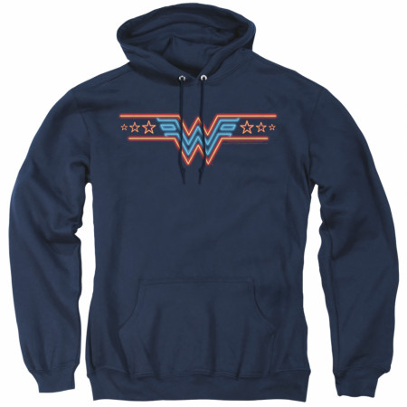 Wonder Woman 1984 Movie Neon Logo Hoodie