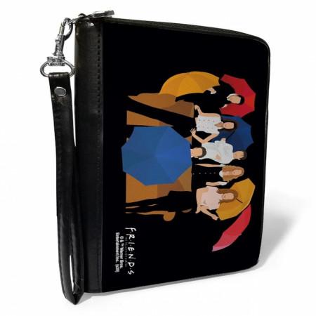 Friends Cast Silhouette Zip Around Wallet