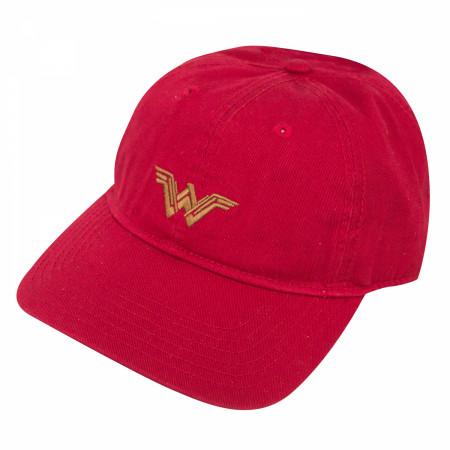 Wonder Woman Adjustable Red Dad Hat