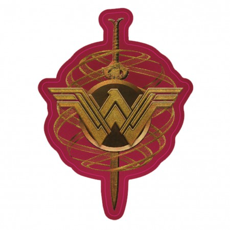 Wonder Woman Comic Crest Decal