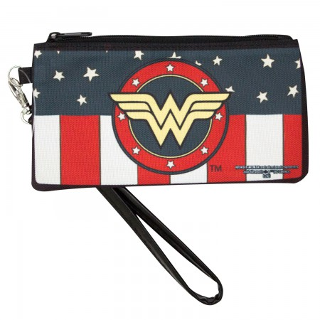 Wonder Woman Patriotic Zipper Wallet