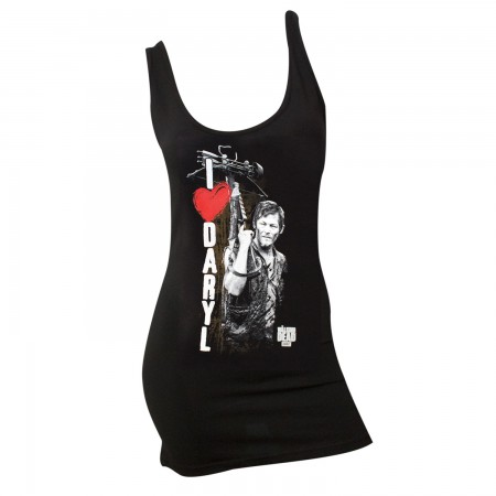 Walking Dead Black I Heart Daryl Women's Tank Top