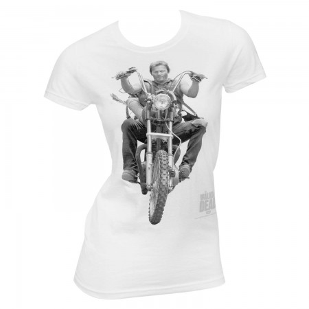 Walking Dead Women's White Daryl T-Shirt