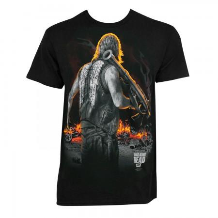 Walking Dead Men's Black Bazooka Daryl T-Shirt