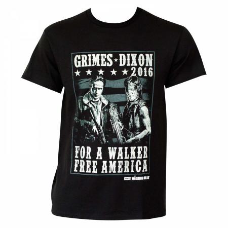 Walking Dead Grimes Dixon 2016 Campaign T-Shirt