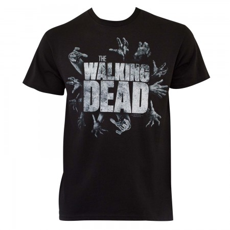 Walking Dead Men's Black Grabbing Hands T-Shirt