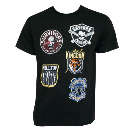The Walking Dead Men's Black Factions T-Shirt