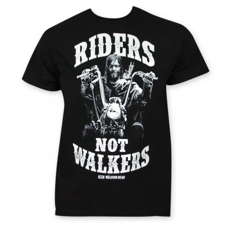 Walking Dead Riders Not Walkers Black T-Shirt