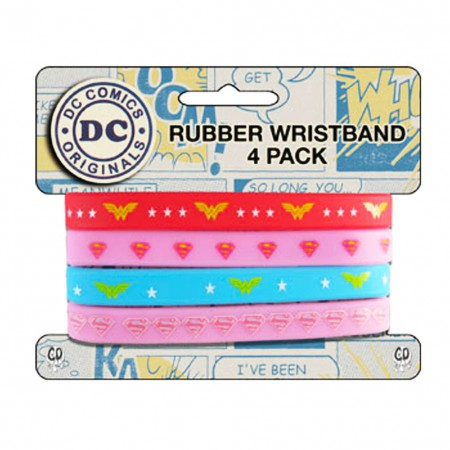 Wonder Woman Rubber Wristbands 4-Pack