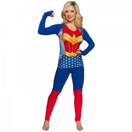 Wonder Woman Costume Shirt Pants Women's Sleep Set