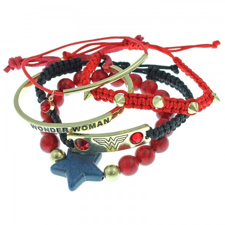 Wonder Woman Party Bracelets