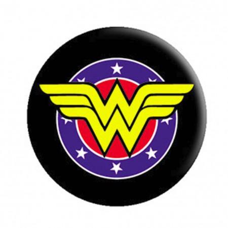 Wonder Woman Shield Logo Button