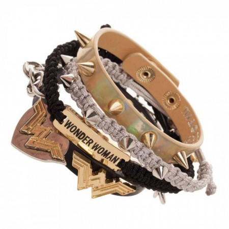 Wonder Woman Superhero Bracelet Set