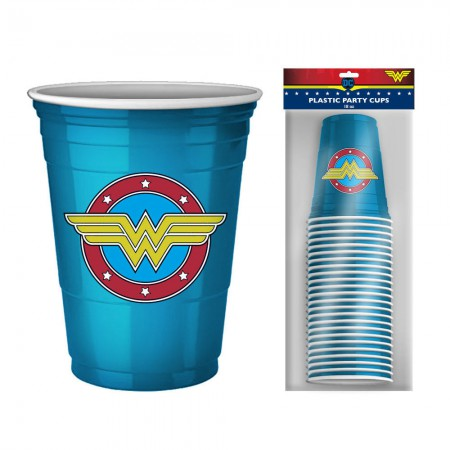 Wonder Woman Logo Blue 20 Pack Disposable Cups