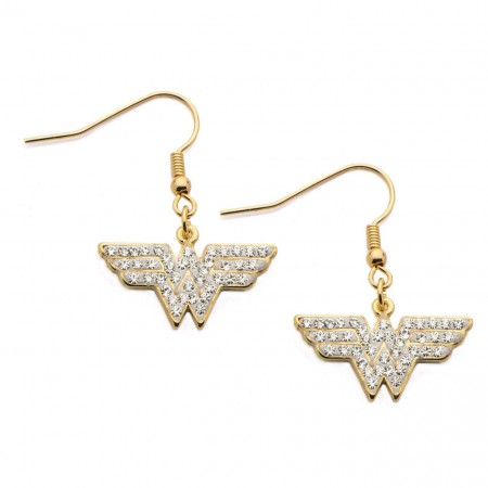 Wonder Woman Stainless Steel Dangle Hook Earrings
