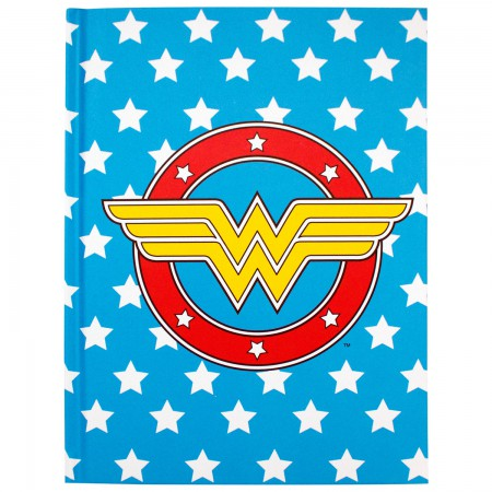 Wonder Woman Blue Stars Journal