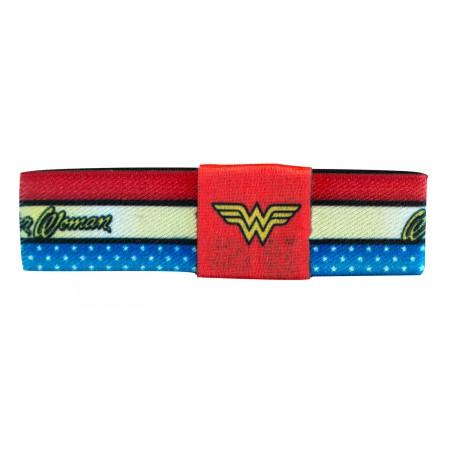 Wonder Woman Logo Elastic Bracelet