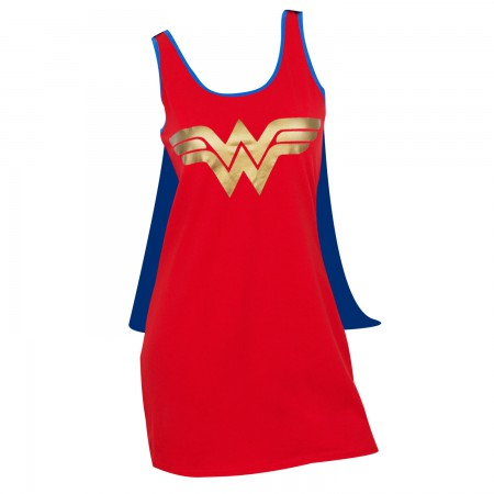 Wonder Woman Women's Red Caped Costume Dress
