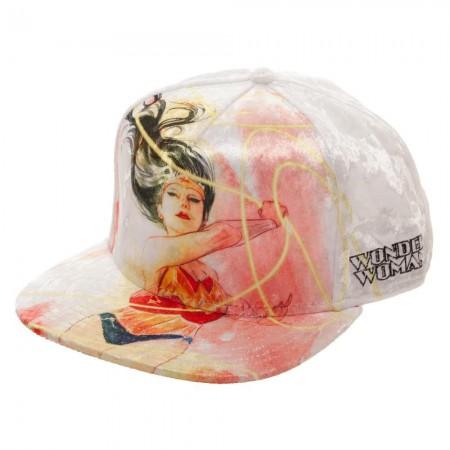 Wonder Woman Velvet Whip Snapback Hat