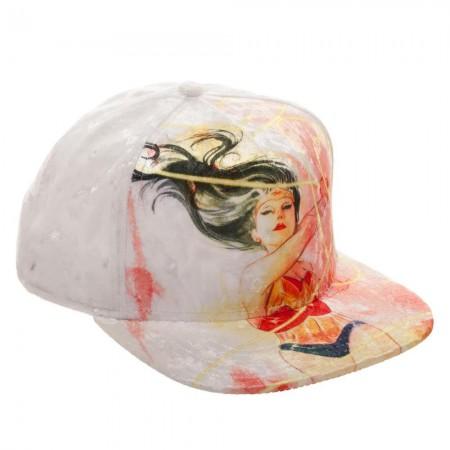 Wonder Woman Velvet Snapback Hat