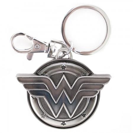 Wonder Woman Pewter Logo Keychain