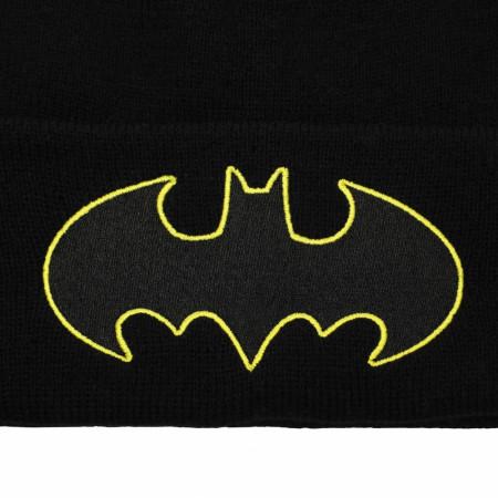 Batman DC Comics Symbol 2-Piece Beanie and Scarf Set