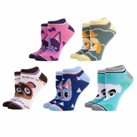 Animal Crossing 5-Pair Pack of Ankle Socks
