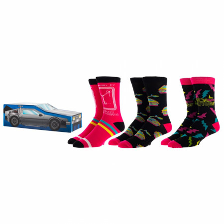 Back to the Future 3-Pair Pack of Crew Socks