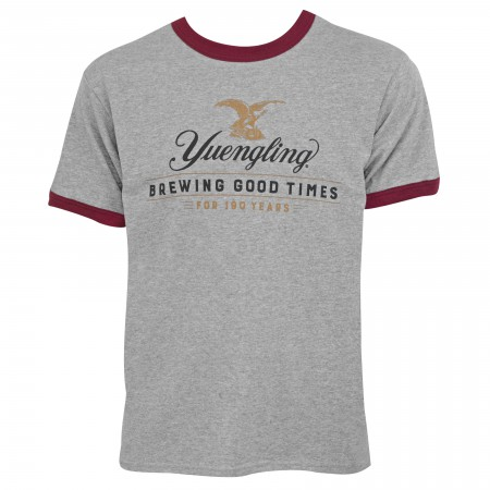 Yuengling Beer 190 Years Men's Grey T-Shirt