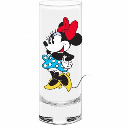 Minnie Mouse Blue Bottom Shot Glass