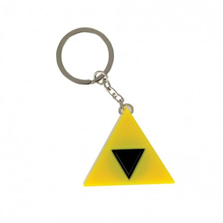 The Legend Of Zelda Light Up Triforce Sound Keychain