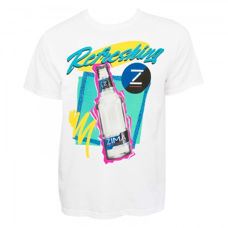 Zima Men's White Retro Logo T-Shirt
