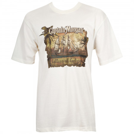 Captain Morgan Men's White Calling All Captains T-Shirt