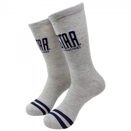 The Flash S.T.A.R. Labs Grey Crew Socks