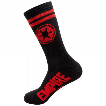 Star Wars Empire Red Symbol Crew Socks
