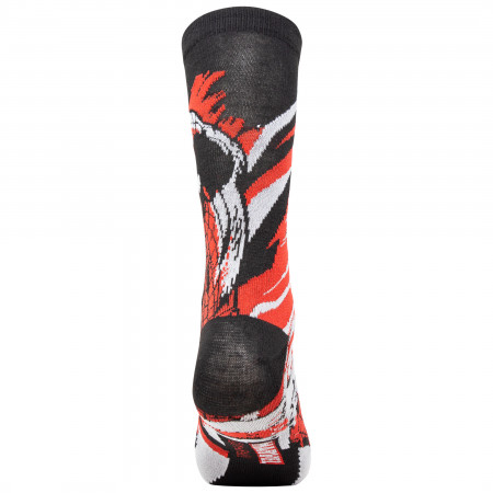 Spider-Man Swinging Black and Red Socks 2-Pair Pack