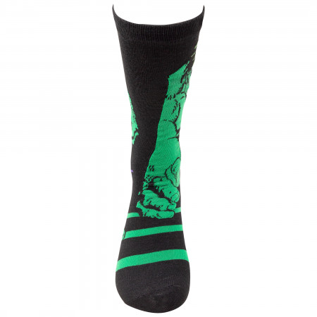 The Incredible Hulk and Avengers 2-Pack Crew Socks