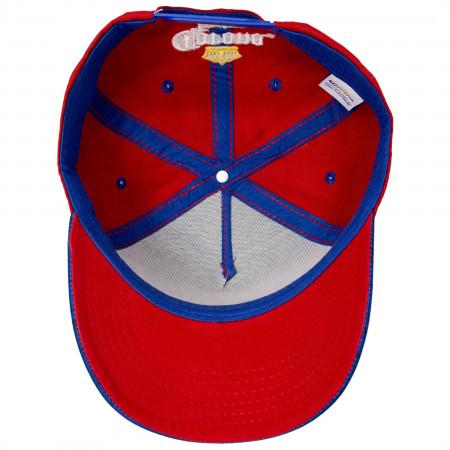 Corona Skull Blue And Red Adjustable Snapback Hat