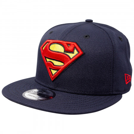 Superman Classic Symbol on Navy New Era 9Fifty Adjustable Hat